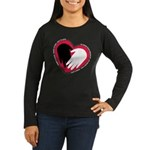 Hearts and Hands Women's Long Sleeve Dark T-Shirt