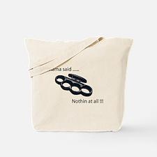Unique Brass knuckles Tote Bag