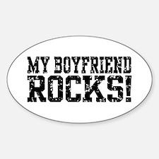 My Boyfriend Rocks Oval Decal
