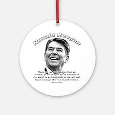 Ronald Reagan 01 Ornament (Round)