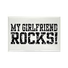 My Girlfriend Rocks Rectangle Magnet