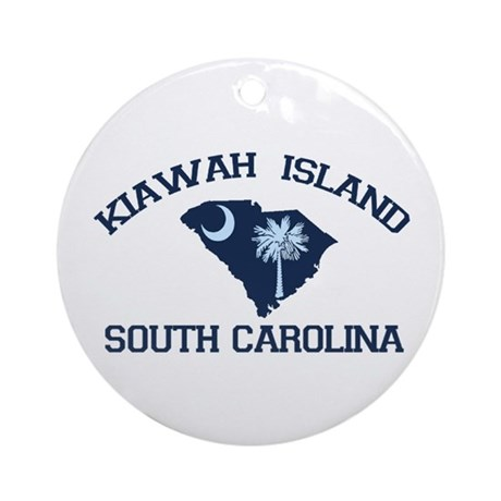 Kiawah Island SC - Map Design Ornament (Round)