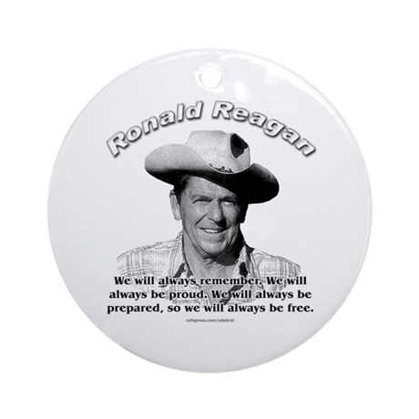 Ronald Reagan 04 Ornament (Round)