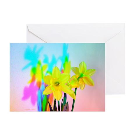 Chromatic Daffodil Shadows 102 Greeting Cards (10)