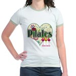 PIlates Fanciful Flowers Jr. Ringer T-Shirt