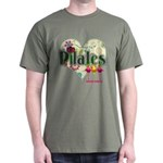 PIlates Fanciful Flowers Dark T-Shirt