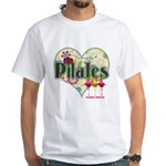 PIlates Fanciful Flowers White T-Shirt