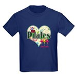 PIlates Fanciful Flowers Kids Dark T-Shirt