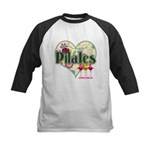 PIlates Fanciful Flowers Kids Baseball Jersey