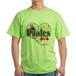PIlates Fanciful Flowers Green T-Shirt