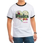 PIlates Fanciful Flowers Ringer T