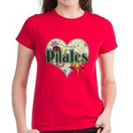 PIlates Fanciful Flowers Women's Dark T-Shirt