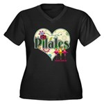 PIlates Fanciful Flowers Women's Plus Size V-Neck