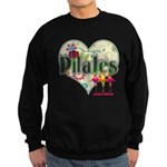 PIlates Fanciful Flowers Sweatshirt (dark)