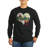PIlates Fanciful Flowers Long Sleeve Dark T-Shirt