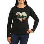 PIlates Fanciful Flowers Women's Long Sleeve Dark