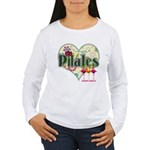 PIlates Fanciful Flowers Women's Long Sleeve T-Shi