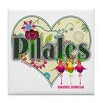 PIlates Fanciful Flowers Tile Coaster