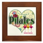PIlates Fanciful Flowers Framed Tile