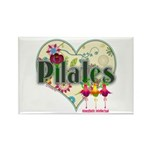 PIlates Fanciful Flowers Rectangle Magnet (10 pack