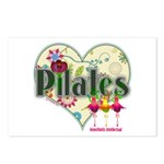 Pilates Fanicful Flowers Postcards (Package of 8)