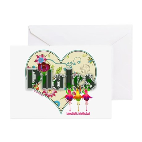 Pilates Fanicful Flowers Greeting Cards (Pk of 20)