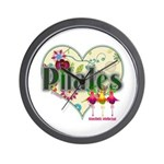 PIlates Fanciful Flowers Wall Clock