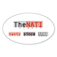 Nasty NATI (Cincinnati) Oval Decal