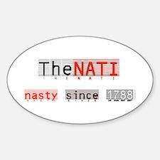 Nasty NATI (Cincinnati) Oval Decal