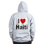 I Love Haiti (Back) Zip Hoodie