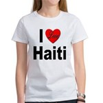 I Love Haiti (Front) Women's T-Shirt