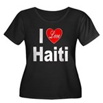 I Love Haiti (Front) Women's Plus Size Scoop Neck