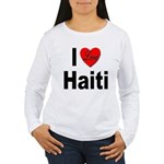 I Love Haiti (Front) Women's Long Sleeve T-Shirt