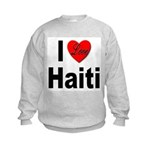I Love Haiti (Front) Kids Sweatshirt