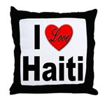 I Love Haiti Throw Pillow