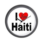 I Love Haiti Wall Clock