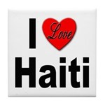 I Love Haiti Tile Coaster