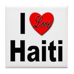 I Love Haiti Tile Coaster
