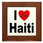 I Love Haiti Framed Tile