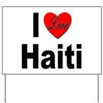 I Love Haiti Yard Sign
