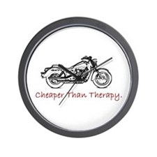 """Cheaper then Therapy"" wall clock"