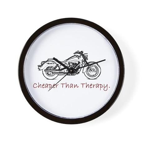 """Cheaper then Therapy"" wall clock"