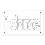 I Dance Rectangle Sticker
