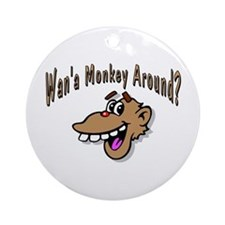 Monkey Around Ornament (Round)