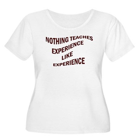 EXPERIENCE IS KNOWLEDGE Women's Plus Size Scoop Ne