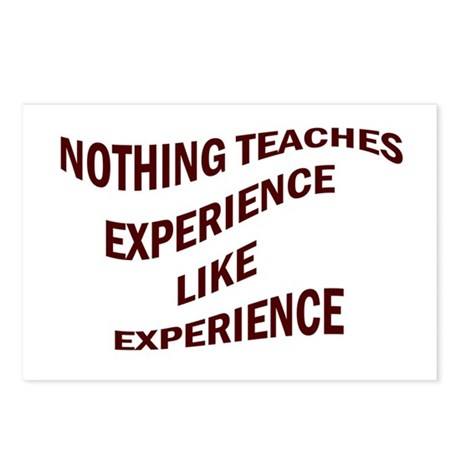 EXPERIENCE IS KNOWLEDGE Postcards (Package of 8)