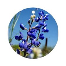 Texas Bluebonnet Ornament (Round) by Penny Mikeman