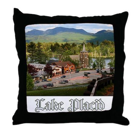 Lake Placid Throw Pillow