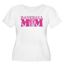 Baseball Mom pink T-Shirt