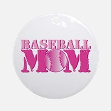 Baseball Mom pink Ornament (Round)